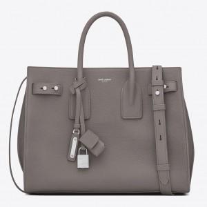 Saint Laurent Small Sac de Jour Souple Bag In Fog Grained Leather
