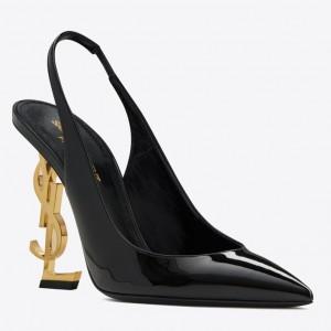 Saint Laurent Opyum Slingback Pumps 110mm With Gold-toned Heel