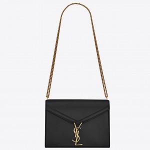 Saint Laurent Black Cassandra Monogram Clasp Bag