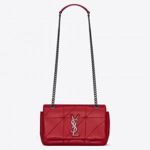 Saint Laurent Small Jamie Bag In Red Patchwork Lambskin