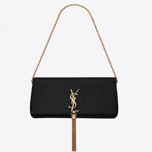 Saint Laurent Kate 99 Shoulder Bag In Black Lambskin