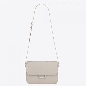 Saint Laurent Le Pave Bag In White Calfskin