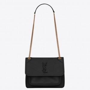 Saint Laurent Baby Niki Bag In Black Lambskin