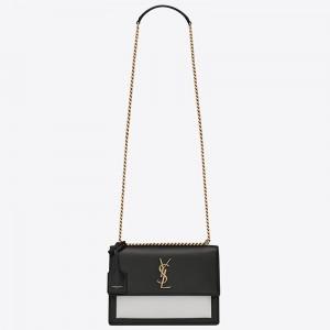 Saint Laurent Bi-color Sunset Medium Calfskin Bag