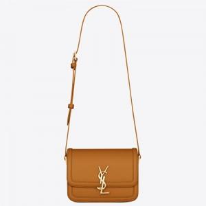 Saint Laurent Solferino Small Bag In Brown Calfskin