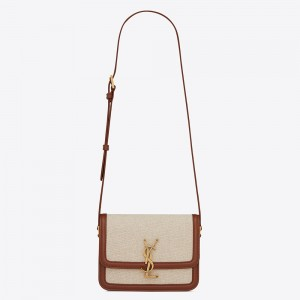 Saint Laurent Solferino Small Bag In Canvas with Calfskin
